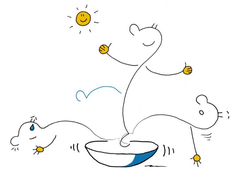 Wie du ein Stehaufmännchen wirst – auch wenn du echt am Boden liegst